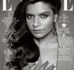 mindy kaling graces the front cover of Elle's february 2014 edition