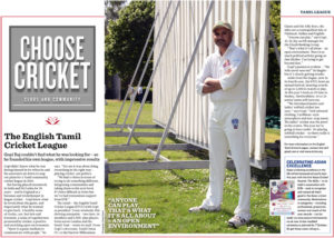 Gobi Raj & the English Tamil cricket league feature in the official ECB - England & Wales Cricket board's website