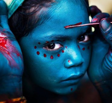 Divine Makeover. A photo taken at a Tamil cultural festival in Tamil Nadu by photographer Mahesh Balasubramanian is one of the winning photos chosen from 18,000 entries for the 2014 National Geographic Traveller Photography Contest.