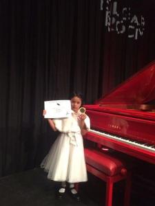 Young Malaysian piano prodigy Kalai Vasudavan performs at Londons Royal Albert hall.