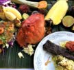 A Banana Leaf Tamil feast prepared by Toronto Chef Fusion by T