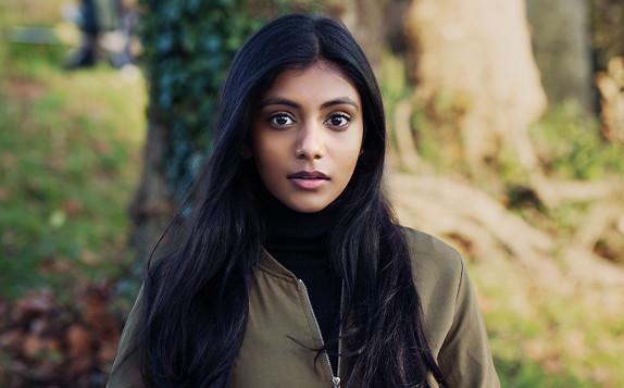 Charithra Chandran plays Edwina Sharma